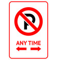 no parking prohibition sign modern label ready vector image vector image