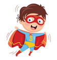 of superhero kid vector image