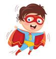 of superhero kid vector image