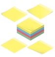 Office stickers for notes isometric icon set vector image