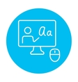 Online education line icon vector image vector image