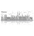 outline vienna austria city skyline with historic vector image vector image
