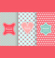 pink chic seamless pattern vector image vector image