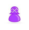 purple female lesbian bisexual profile picture vector image vector image