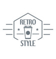 retro style logo simple style vector image vector image