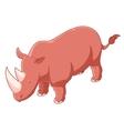 Rhinoceros isometric icon vector image vector image