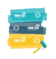 roller brush for text options banner vector image vector image