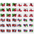 Saint Kitts and Nevis Gibraltar Swaziland Namibia vector image vector image