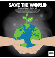 Save the world conceptual EPS1 vector image vector image