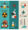 Science sketch banners vector image vector image