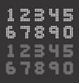scoreboard style numbers vector image vector image