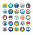 seo and digital marketing icons 12 vector image vector image