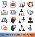 Seo Human Resources vector image