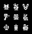 Set icons of motor and engine vector image vector image