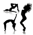set of dancing woman vector image vector image