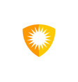 shield sun logo icon design vector image vector image