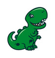 smiling dinosaur - a cute cartoon character mascot vector image