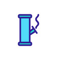 smoking cannabis icon isolated contour vector image vector image