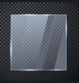 square glass banner glossy frame template with vector image vector image