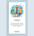 strategy working people in office website vector image vector image
