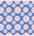 striped polka dot circle seamless pattern vector image vector image