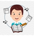 student music notebook pencil vector image