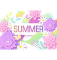 summer background with colorful tropical leaves vector image