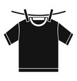 tshirt dry icon simple style vector image