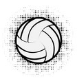 volleyball black outline vector image vector image