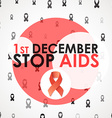 World Aids Day Stop Aids 1th december Brochure vector image