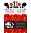 world remembrance day banner vector image vector image
