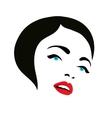 woman face fashion silhouette icon vector image