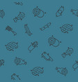 meat concept icons pattern vector image