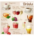 Set of food icons Drinks vector image