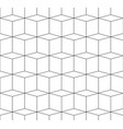 3d cubes spatial seamlessly repeatable monochrome vector image
