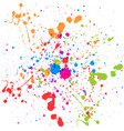 abstract splatter multi color background vector image vector image