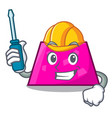 automotive trapezoid mascot cartoon style vector image vector image