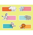 Baby tags with wild animals vector image vector image