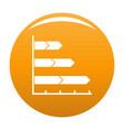 best graph icon orange vector image vector image