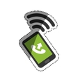 Call answer symbol vector image