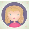 cartoon cute smiling little girl icon vector image