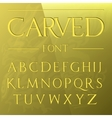 Carved font engraved on the wall modern realistic vector image