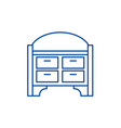 chest of drawers line icon concept chest of vector image vector image