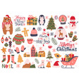 christmas holiday elements winter holidays cozy vector image