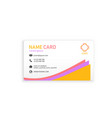 colorful abstract business name card image vector image