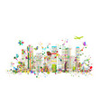 colorful metropolis abstract background for your vector image vector image