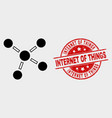connections icon and grunge internet of vector image vector image