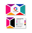 creative business card template design with color vector image vector image