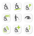 Disabled people signs vector image vector image