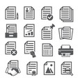documents icons set on white background vector image vector image